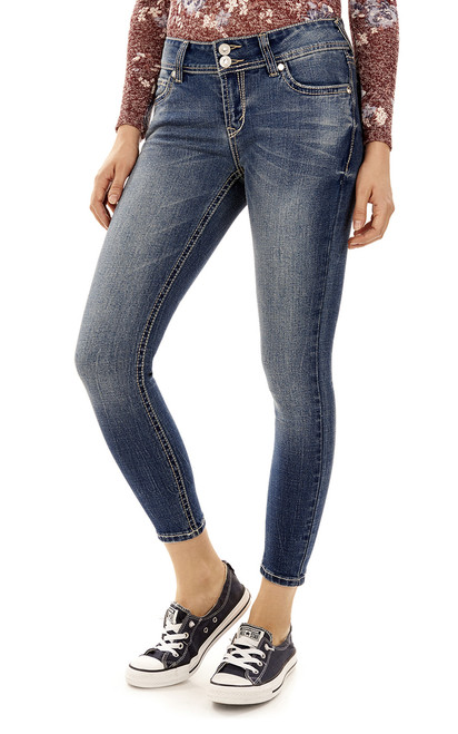 Luscious Curvy Bling Ankle Skinny Jeans In Annabelle