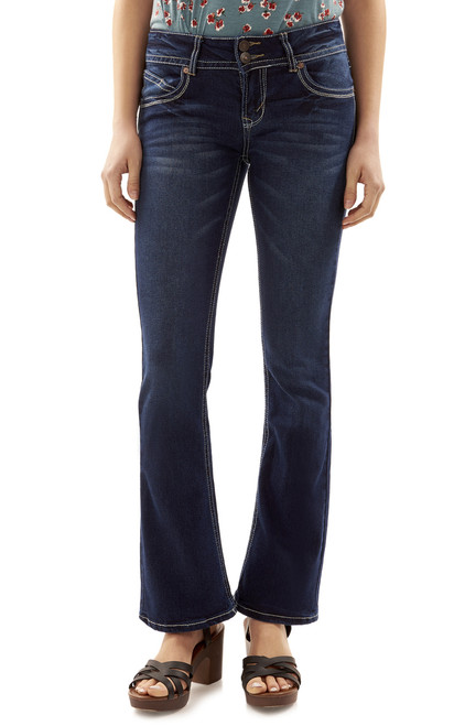 """Luscious Curvy Basic Bootcut Jeans (30-32"""") In Natalie"""