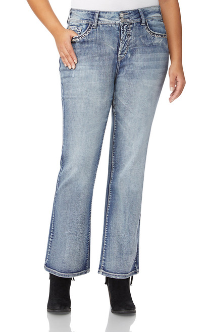 Plus Size Luscious Curvy Bling Bootcut Jeans In Kerri