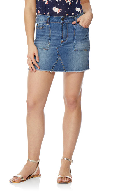 Denim Skirt In Mason
