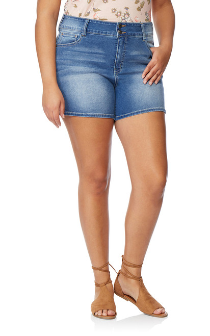 Plus Size InstaSoft™ Ultra Fit Shorts In Lily