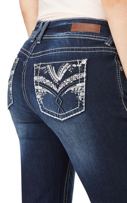 Luscious Curvy Embellished Bootcut Jeans In Kyle