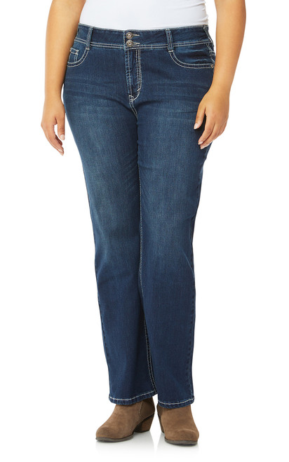 Plus Size Luscious CurvyEmbellished Bootcut Jeans In Kyle