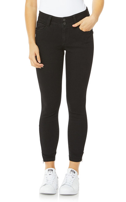 Luscious Curvy Skinny Ankle Jeans In Black