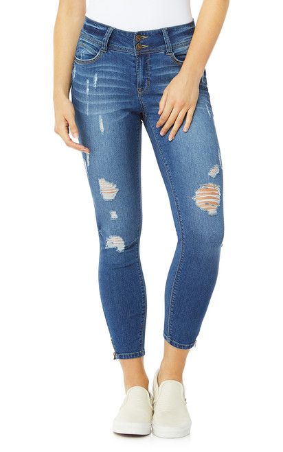 Luscious Curvy Skinny Ankle Jeans In Festival