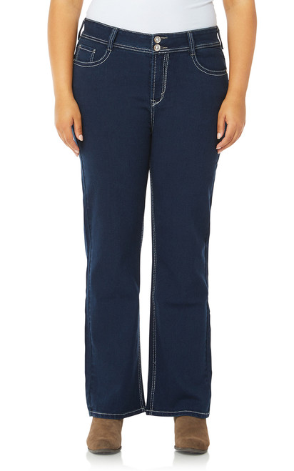 Plus Size Luscious Curvy Bling Bootcut Jeans In Kimmy