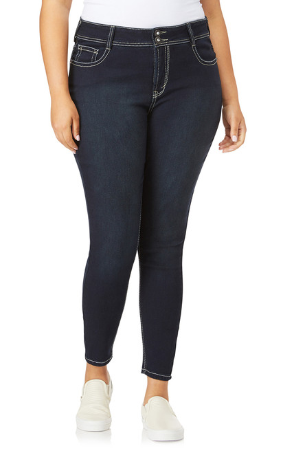 Plus Size Luscious Curvy Bling Skinny Jeans In Kaylee