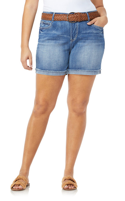 Plus Size Legendary Belted Shorts In Hilary