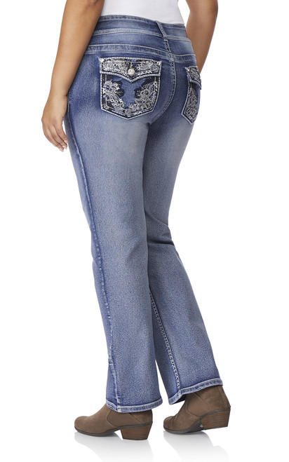 Plus-Size Luscious Curvy Bling Bootcut Jeans In CeCe