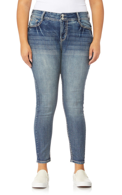 Plus Size Luscious Curvy Bling Skinny Jeans In Hillary