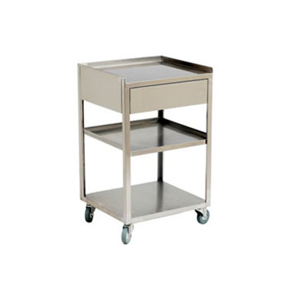 Paragon Stainless Steel Facial Cart w/ One Storage Drawer
