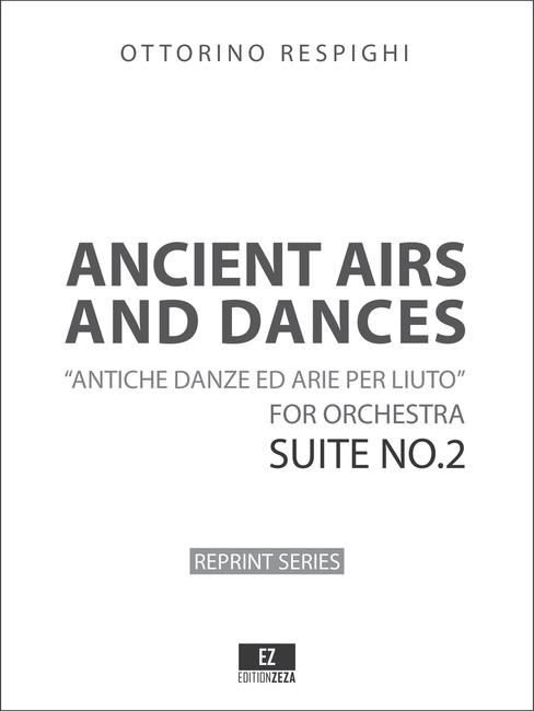 Respighi - Antiche danze ed arie per liuto  Suite No.2 - Score and Parts