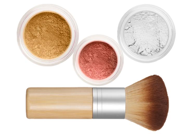Sheer Miracle Mineral Makeup Starter Kit   Mineral Foundation, Finishing Powder and Blush plus Eco-Friendly Vegan Bamboo-ki Brush