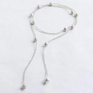 Moonstone and Baroque Lariat