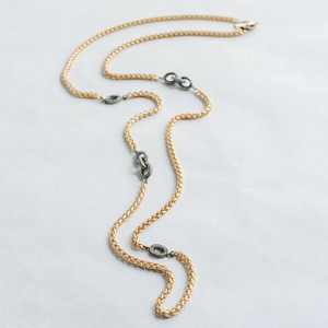 Gold Chain and CZ Necklace