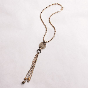 Prayer Bead and Belly Dancing Coin Necklace