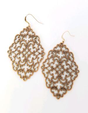 Filigree  Copper Earrings