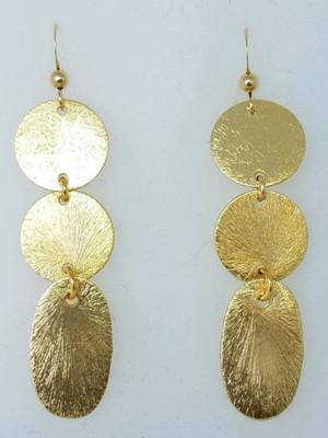 Matte Gold Multi Shape Earrings
