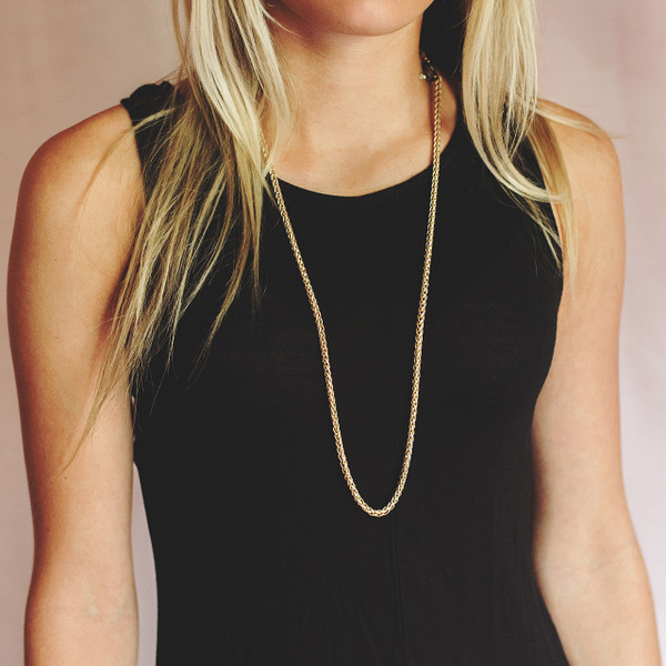 Gold Necklace with Interchangeable Add-ons