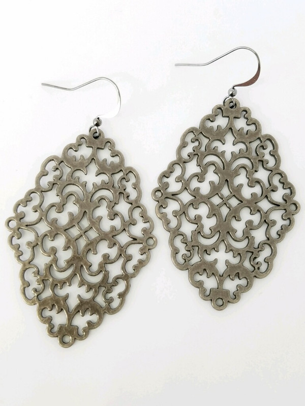 Filigree GunmetalEarrings