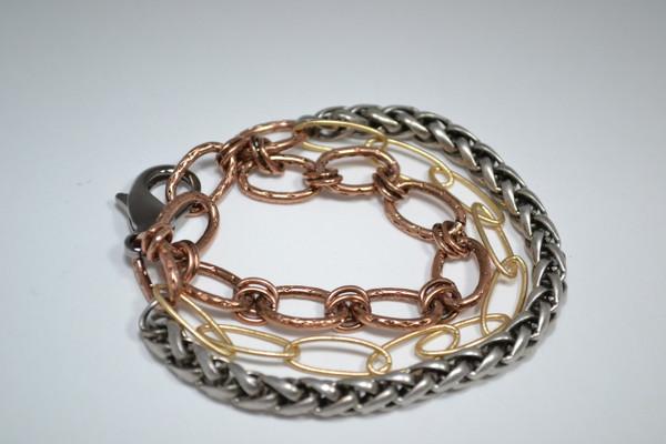 3 Strand Mixed Metal Bracelet II