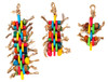 A colorful array of mahogany pods, corn husks, bamboo, and abaca will entice your companions into fun, healthy, play activities. Available 41356 Small Linx and 41358 Large Linx