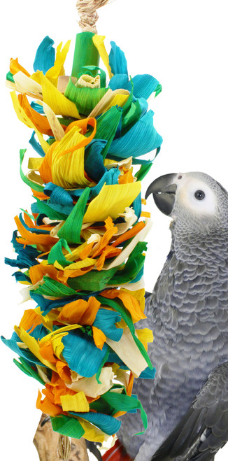 41333 Corn silk cascade is the perfect healthy accessory for those medium to large-sized feathered friends in your family.