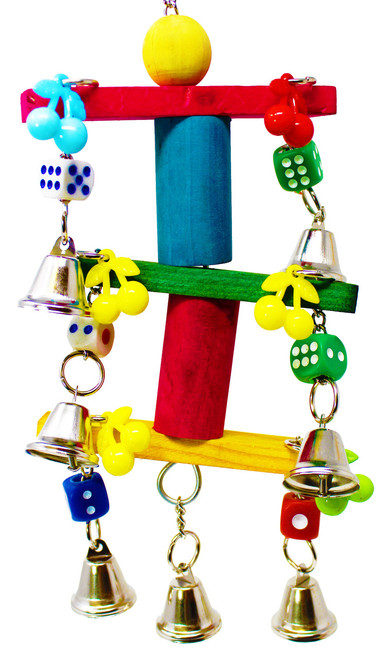 1757 Bell spin is one exciting toy for those busy beaks, a plethora of fun activities awaits your small to medium-sized feathered companion.