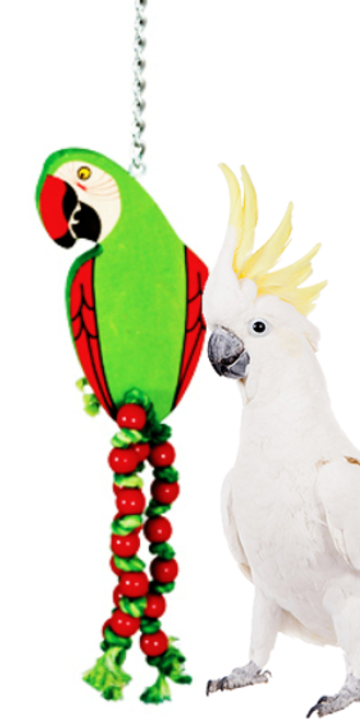 989 Big parrot is a fun companion for your large feathered friend in your family.