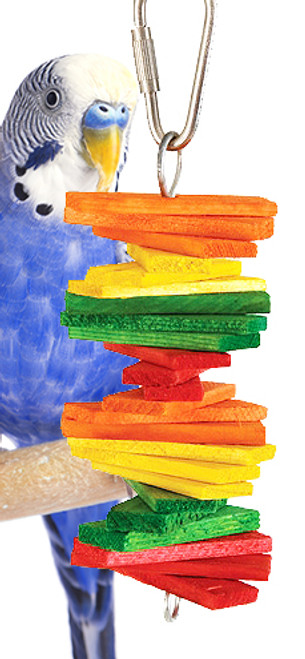 880 Bric Brac is a colorful and fun little toy for those small, busy beaks.