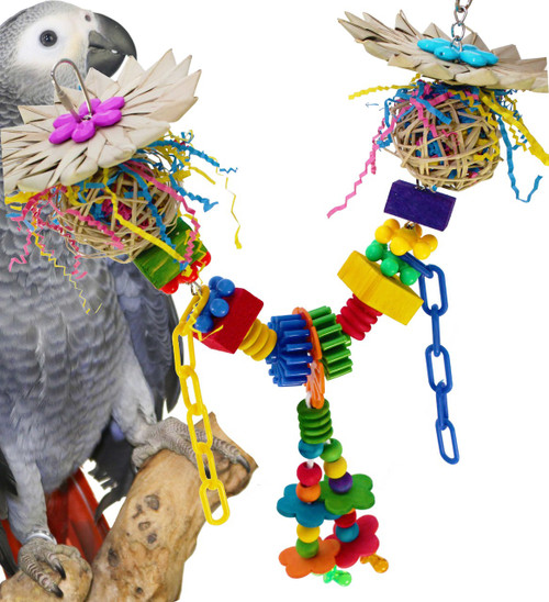 00942 Jungle Bridge offers a wonderful array of healthy play options for your medium to large-sized feathered friends.