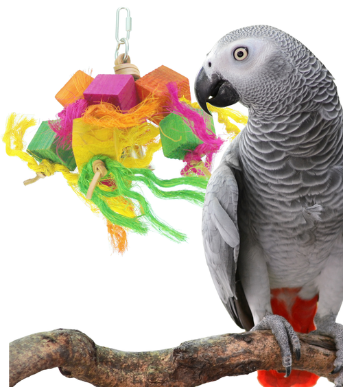 1178 sisal block a colorful and entertaining toy for any cage, your medium size bird will just love to chew, pluck, and preen throughout this landscape of color.