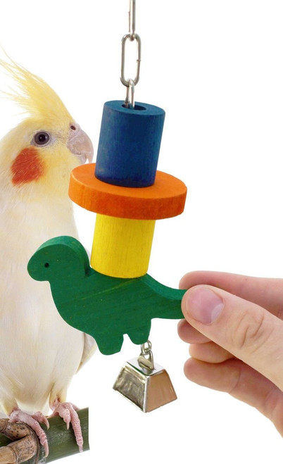 36041 Dino Block is all that and more for those busy beaks, your small to medium-sized feathered companions will love to get a hold of this.