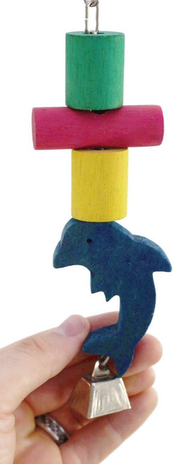 36037 Dolphin Block is all that and more for those busy beaks, your small to medium-sized feathered companions will love to get a hold of this.