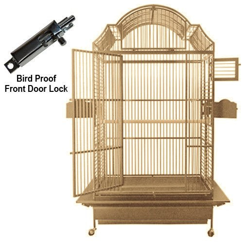 Sandstone Color Model 306. Ideal for Amazons, Macaws, Cockatoos, African Greys and Eclectus. The European style Napoleon top will give your bird a castle of a cage.