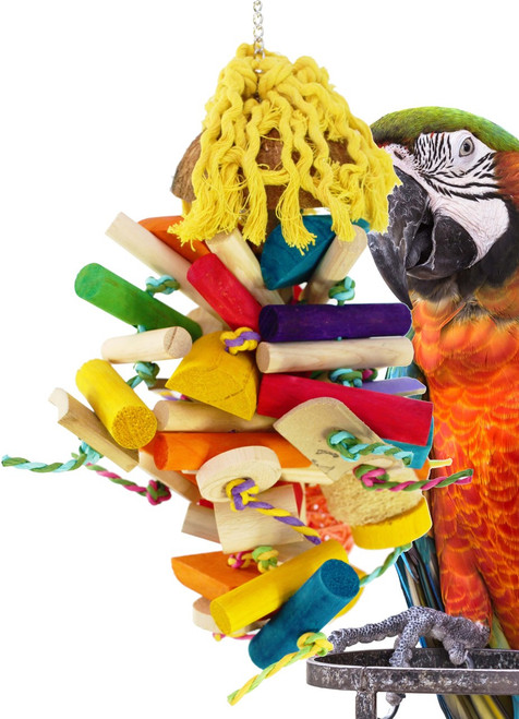 1912 Large Buster Foraging is a plethora of dangling fun for your medium to large sized feathered friends.