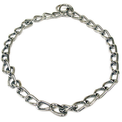 Extra heavyweight chain dog training collars, these are chrome plated for maximum strength and durability, they will not tarnish, rust or break.