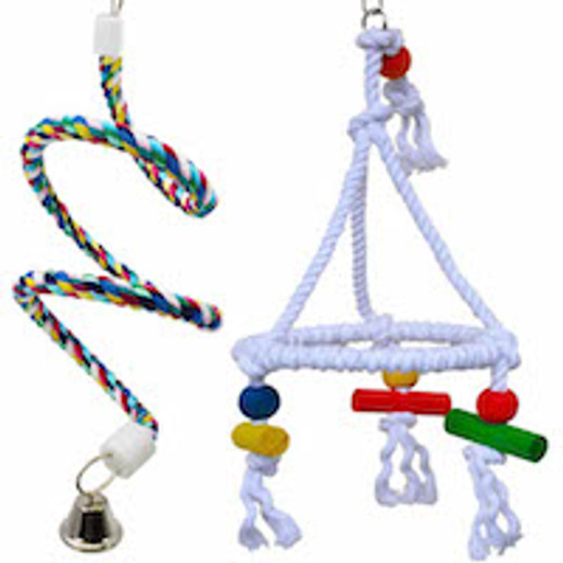 What are great selling bird rope swings?