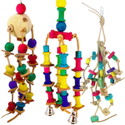 What are the Best selling small and medium leather bird toys?