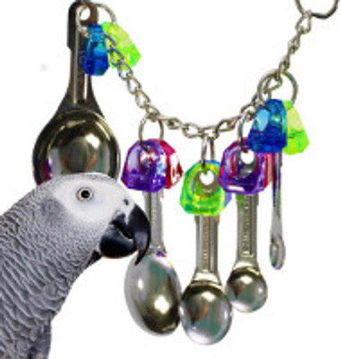 What is a good stainless steel spoon bird toy?