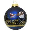 Santa Claus Christmas New York City Skyline Ornament