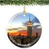 Porcelain Empire Statue Building Christmas Ornament