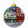 New York City Christmas Ornament Glass Ball featuring the Macy's Thanksgiving Parade and Christmas