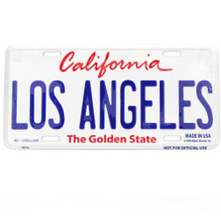 Embossed Los Angeles License Plate