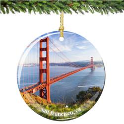 Porcelain San Francisco Christmas Ornament
