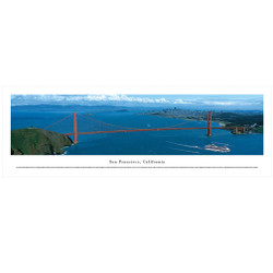 Panoramic San Francisco Golden Gate Bridge Poster