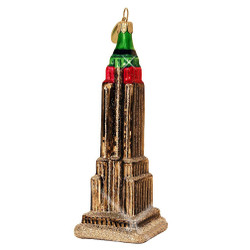Glass New York City Empire State Building Christmas Ornament
