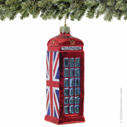 London Telephone Booth Christmas Ornaments