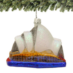 Glass Sydney Opera House Christmas Ornament