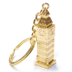 London's Big Ben metal key chain, London Key ring